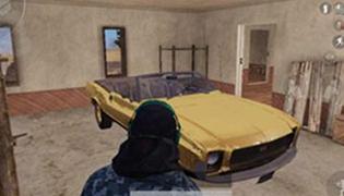 和平精英沙漠地图2.0黄金肌肉跑车在哪儿?